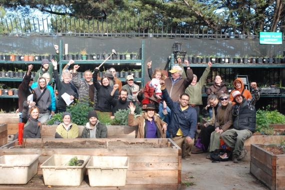 Community Gardeners at Kezar Gardens in Golden Gate Park!